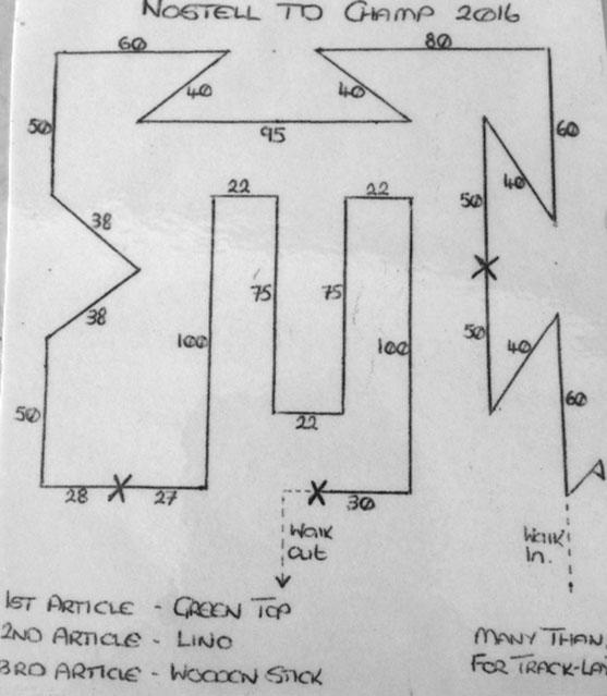 Nostell TD track pattern